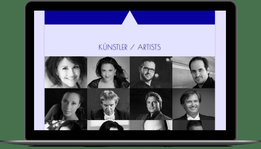 Webdesign für die Grazer Künstleragentur C.A. Klug Artists & Management auf der Website klug-artists.com