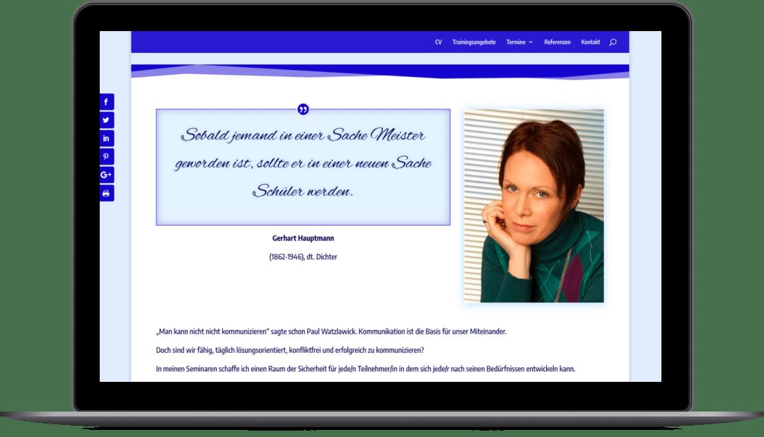 Webdesign für Grazer Business-Coach Mag. Claudia Spidla auf der Website smart-training.at