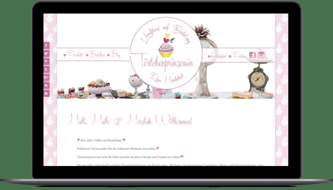 Webdesign für die Grazer Firma Toertchenprinzessin e.U. auf der Website Toertchenprinzessin.at
